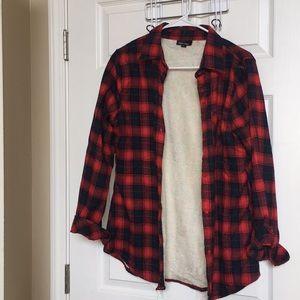 Tops - Fleece lined plaid shirt ❤️